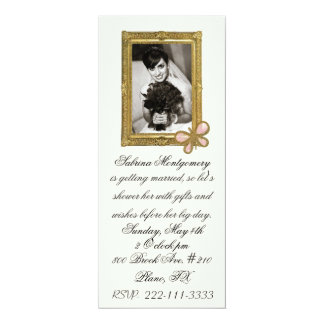 Bride's Portrait Bridal Shower Invitation
