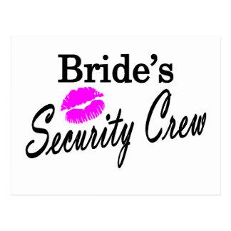 Brides Security Crew Postcard