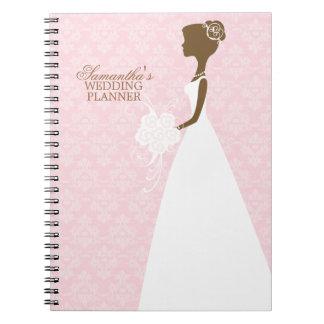 Bride's Silhouette Wedding Planner Spiral Notebook