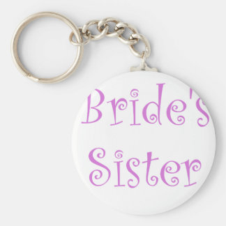 Bride's Sister Basic Round Button Key Ring