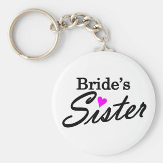 Brides Sister Basic Round Button Key Ring