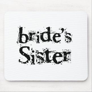 Bride's Sister Black Text Mouse Pad