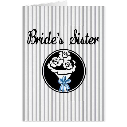 Brides Sister Card