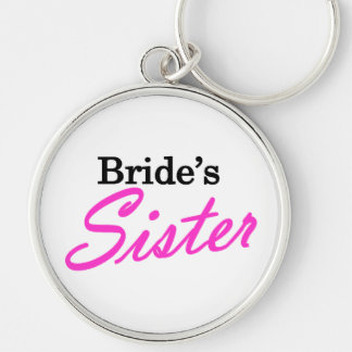 Brides Sister Silver-Colored Round Key Ring