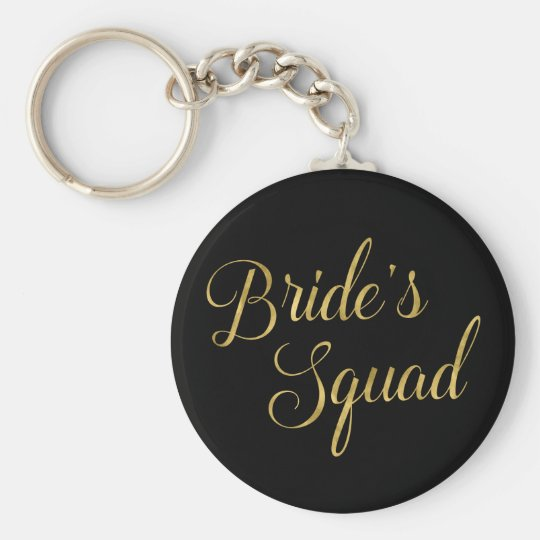 Bride's Squad Bridesmaid Gift Key Ring