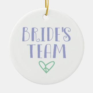 Bride's Team Christmas Ornament
