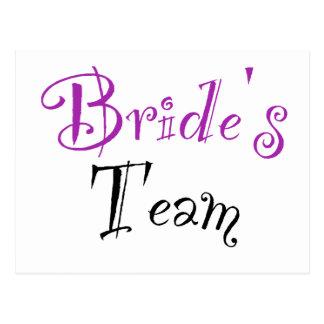 Bride's Team Postcard