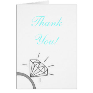 Bride's Thank You- Blue Card