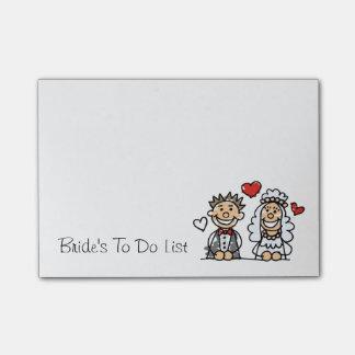 Bride's To Do List Wedding Planner Reminder Note