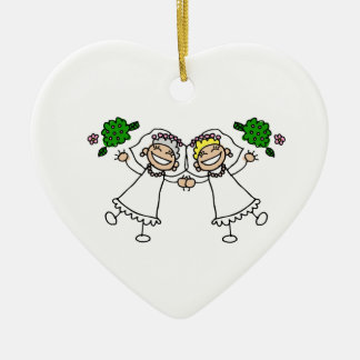 Brides Tossing Bouquests Christmas Ornament