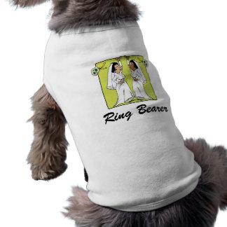 Brides tossing bouquet sleeveless dog shirt