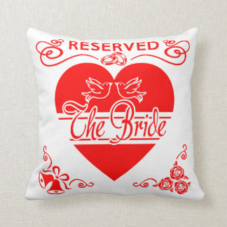 Bride's Wedding Cushion. Reserved for the Bride. Cushion