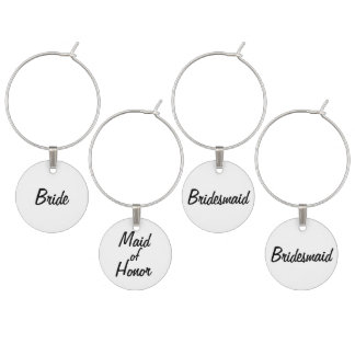 Bride's Wedding Wine Charm Set