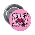 Bride's Wing-Girl Bachelorette Party 6 Cm Round Badge