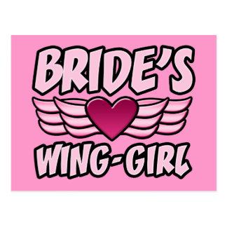 Bride's Wing-Girl Bachelorette Party Postcard