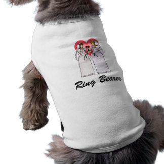 Brides with Roses in Love Sleeveless Dog Shirt
