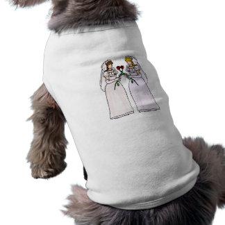 Brides with Roses Sleeveless Dog Shirt