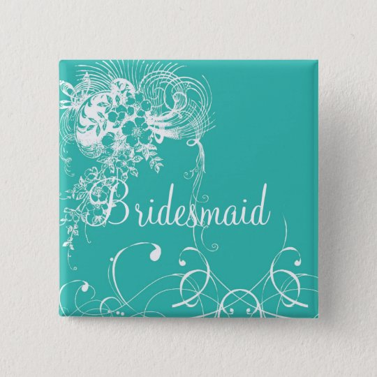 Bridesmaid 15 Cm Square Badge