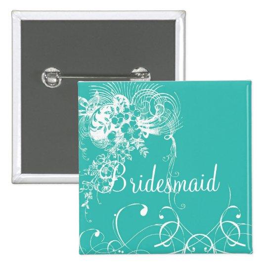 Bridesmaid 15 Cm Square Badge