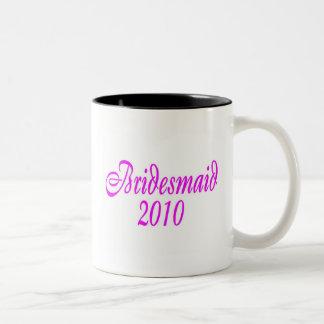 Bridesmaid 2010 (Pink) Coffee Mugs