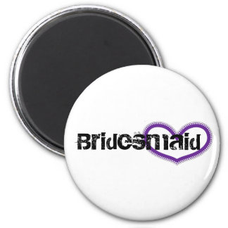 Bridesmaid 6 Cm Round Magnet