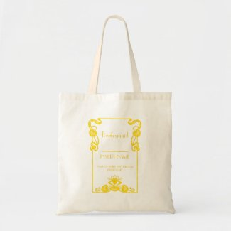 Bridesmaid Art Deco Personalised Gift Tote Bag