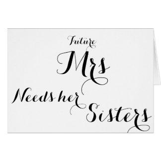 Bridesmaid ask card