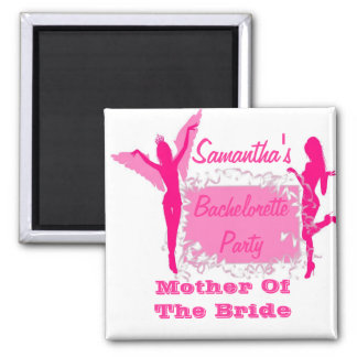 Bridesmaid bachelorette party square magnet