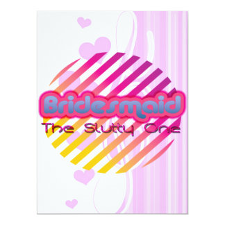 "bridesmaid bachelorette wedding bridal party 6.5"" x 8.75"" invitation card"