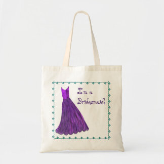 Bridesmaid Bag - PURPLE Bridesmaid Dress TEAL Trim