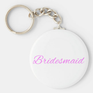 Bridesmaid Basic Round Button Key Ring