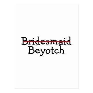 Bridesmaid Beyotch Postcards