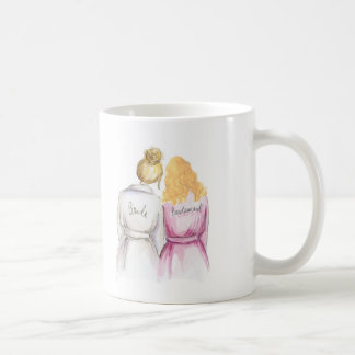 Bridesmaid? Bl Bun Bride Bl Curls Maid Coffee Mug