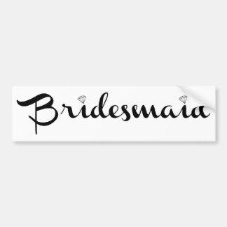 Bridesmaid Black on White Bumper Sticker