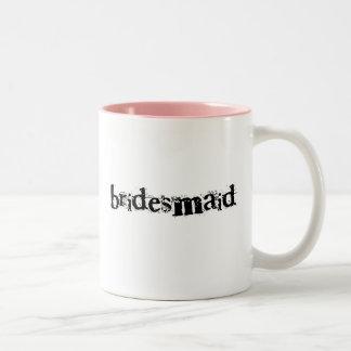 Bridesmaid Black Text Mugs