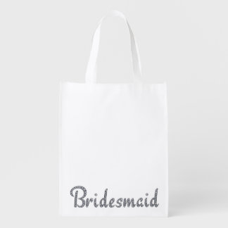Bridesmaid bling reusable bag