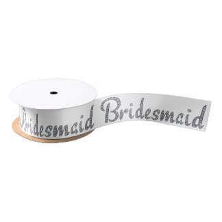 Bridesmaid bling ribbon satin ribbon