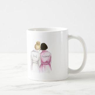 Bridesmaid? Blonde Bun Bride Dark Br Bob Maid Coffee Mug