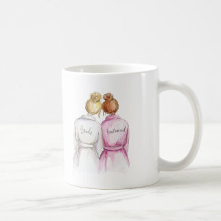 Bridesmaid? Blonde Bun Bride Red Bun Maid Coffee Mug