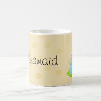 Bridesmaid - Blue Designer Cake Coffee Mugs