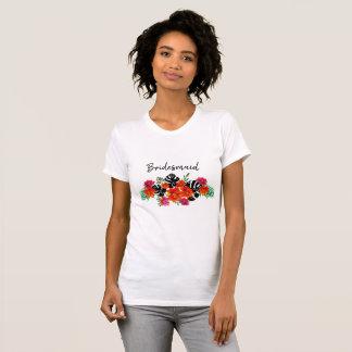 Bridesmaid Bold Floral Spring Summer  Wedding T-Shirt