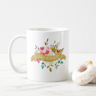 Bridesmaid Bouquet Coffee Mug
