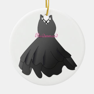 Bridesmaid Bridal Party Black Dress Ornament