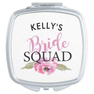 Bridesmaid Bridal Shower Mirror Bride Squad Pink Vanity Mirror
