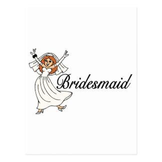 Bridesmaid Bride Post Cards