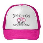 Bridesmaid Brides Security Crew Mesh Hat