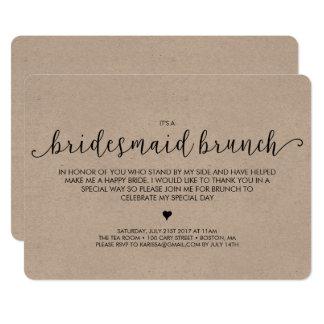Bridesmaid Brunch Invitation - Kraft