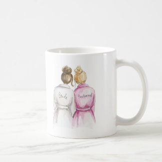 Bridesmaid? Brunette Bun Bride Bl Bun Maid Coffee Mug