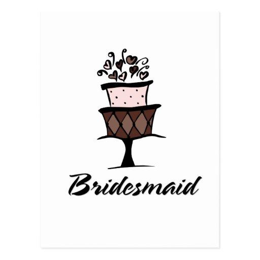 Bridesmaid Cake Post Card