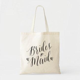 Bridesmaid Calligraphy Wedding Party Tote Bag